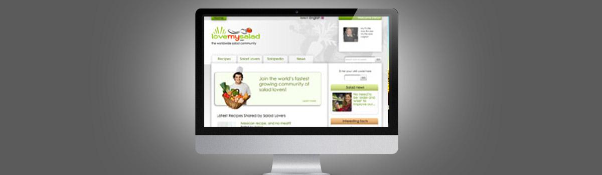 Webdesign für Soziales Netzwerk