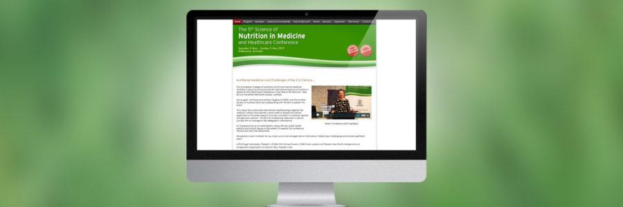 Webdesign für Konferenz Webseite