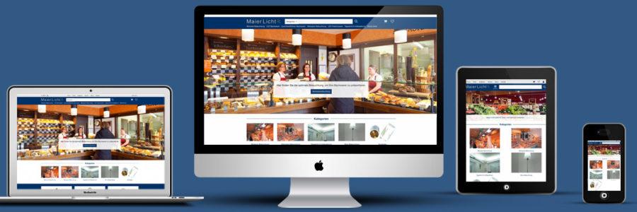 Kleinermann Webdesign - Wordpress Onlineshop - Maier-Licht