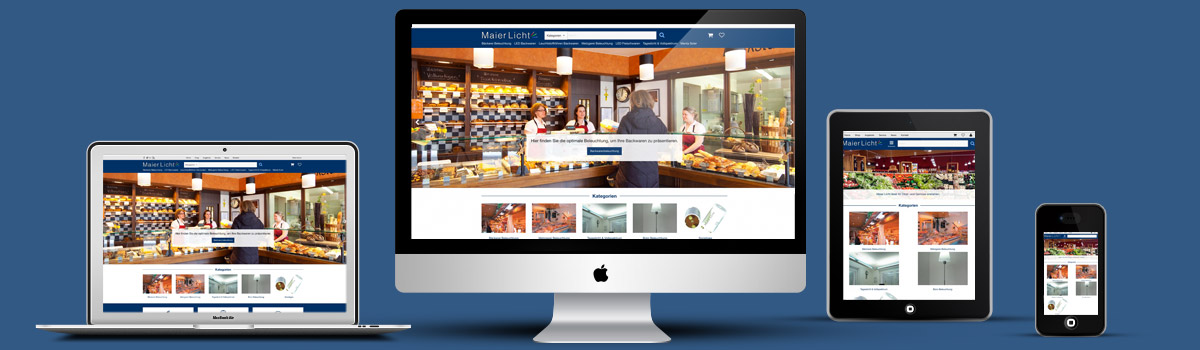 Kleinermann Webdesign - Wordpress Onlineshop - Maier-Licht